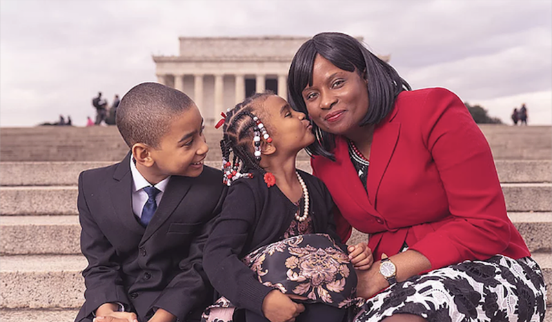 Suited for change family image